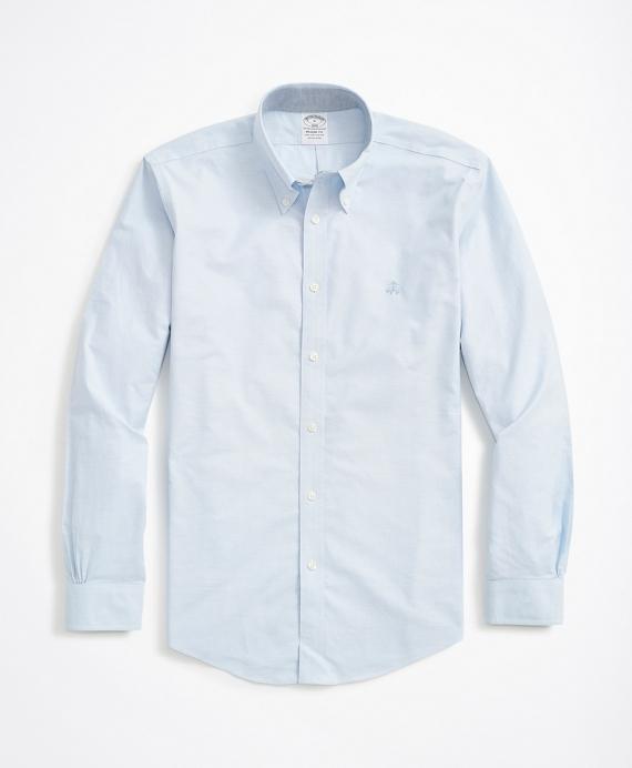 Stretch Regent Fit Sport Shirt, Non-Iron Oxford Blue