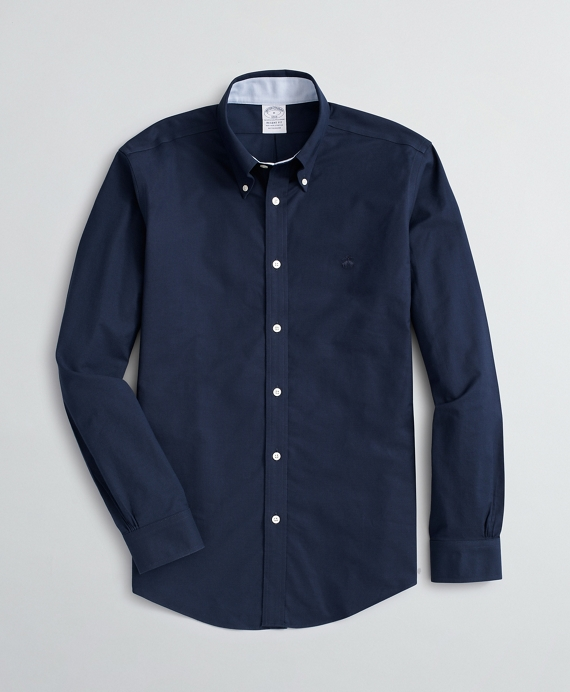 Stretch Regent Fit Sport Shirt, Non-Iron Oxford Navy