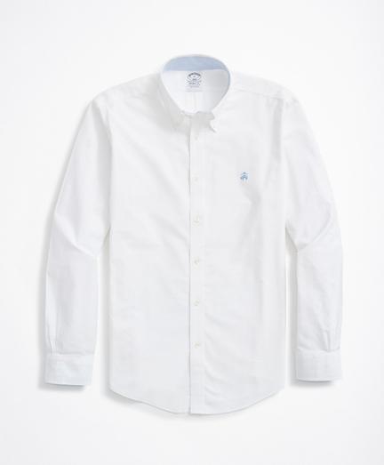 Brooksbrothers Stretch Regent Fit Sport Shirt, Non-Iron Oxford