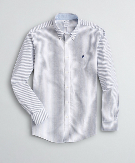 Brooksbrothers Stretch Regent Fit Sport Shirt, Non-Iron Bengal Stripe Oxford