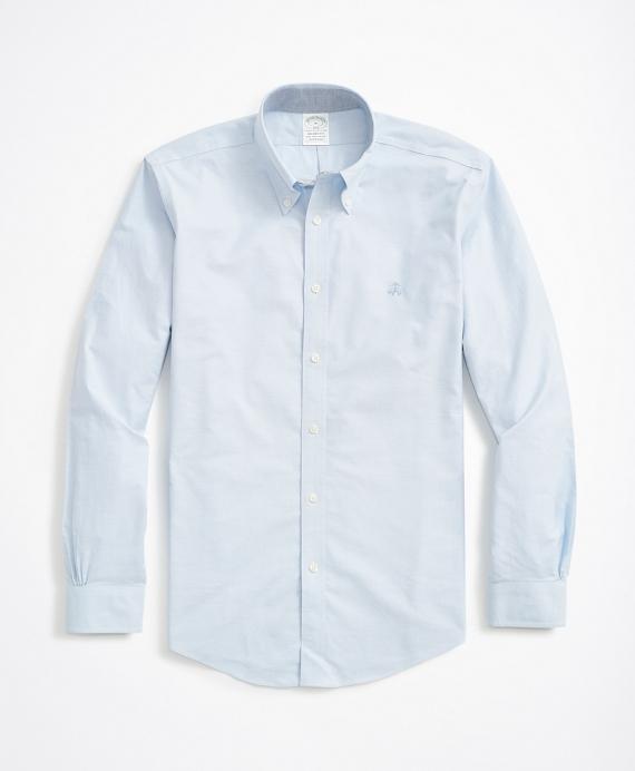 Stretch Milano Slim-Fit Sport Shirt, Non-Iron Oxford Blue