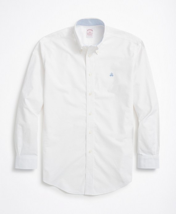 Stretch Madison Relaxed-Fit Sport Shirt, Non-Iron Oxford White
