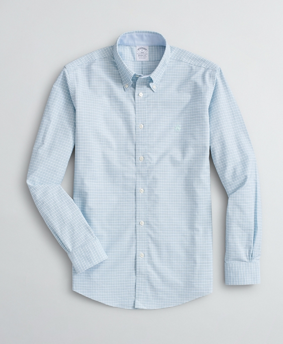 Stretch Sport Shirt, Non-Iron Mini Gingham Oxford