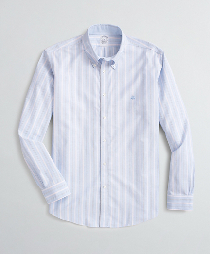 Stretch Regent Fit Sport Shirt, Non-Iron Mixed Stripe Oxford