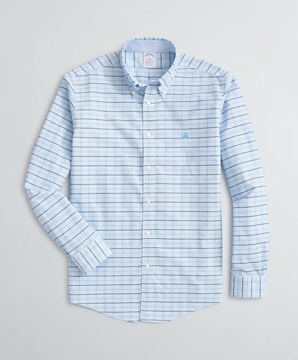 Stretch Regent Fit Sport Shirt, Non-Iron Tattersall Oxford