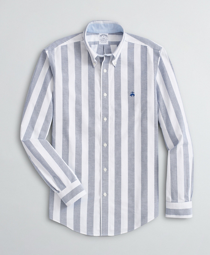 Brooksbrothers Stretch Regent Fit Sport Shirt, Non-Iron Bold Stripe Oxford