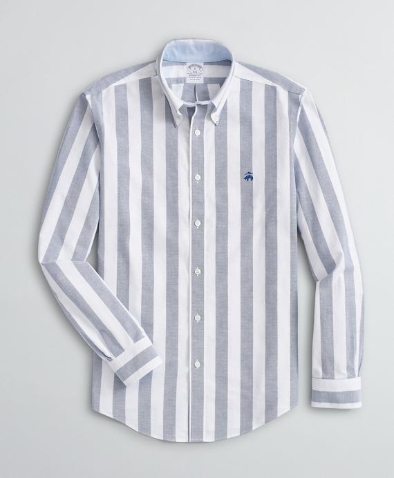 Stretch Sport Shirt, Non-Iron Bold Stripe Oxford