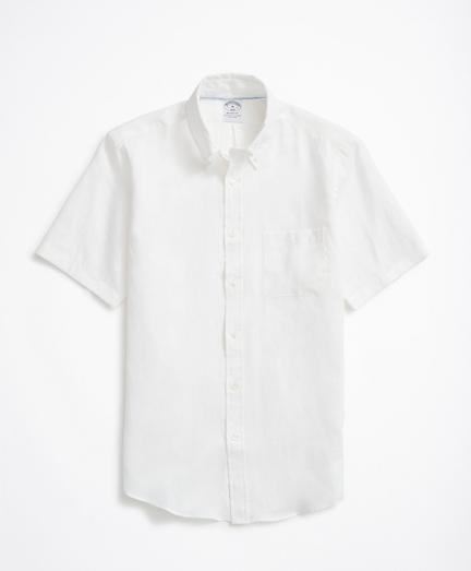 Regent Regular-Fit Sport Shirt, Linen Short-Sleeve