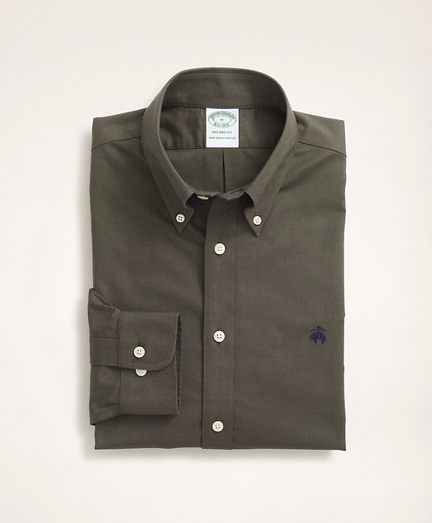 Stretch Milano Slim-Fit Sport Shirt, Non-Iron Oxford