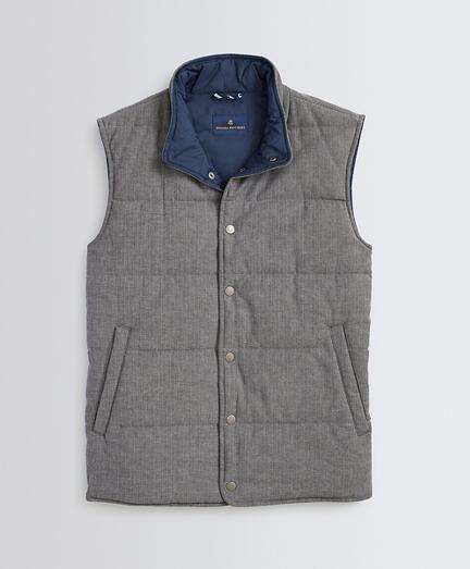 Water-Repellent Herringbone Quilted Vest