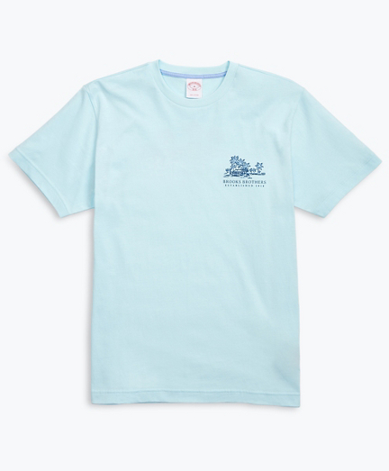 Hawaii-Print Cotton Jersey T-Shirt