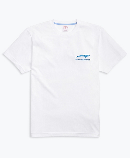Whale-Print Cotton Jersey T-Shirt