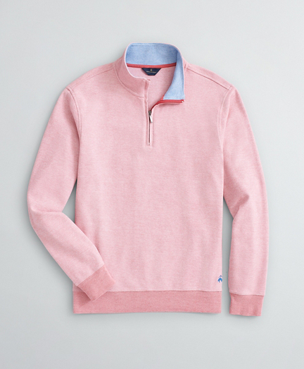 Bird's-Eye Cotton Half-Zip