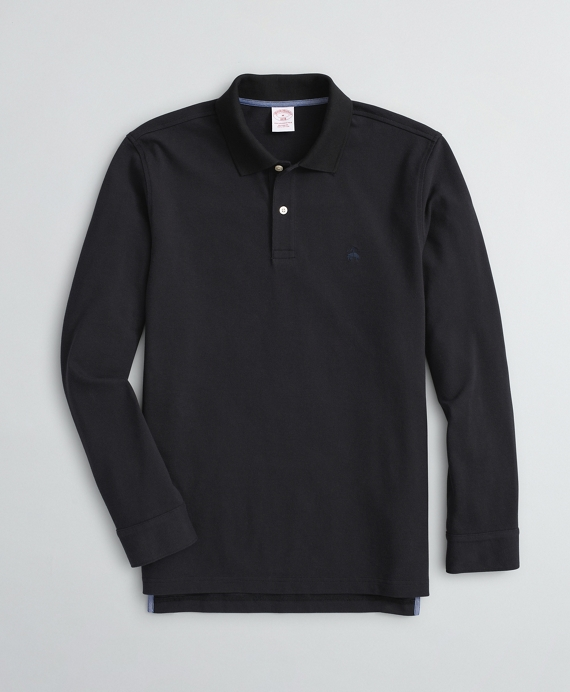 Cotton Pique Polo Black