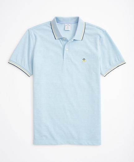 Slim-Fit Striped-Trim Performance Polo Shirt