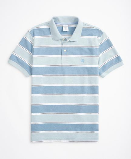 Slim-Fit Striped Performance Polo Shirt