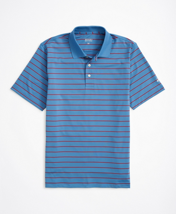Striped Performance Series Polo Shirt Blue-Red