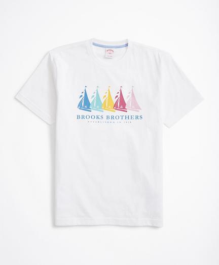 Rainbow Boats Graphic T-Shirt