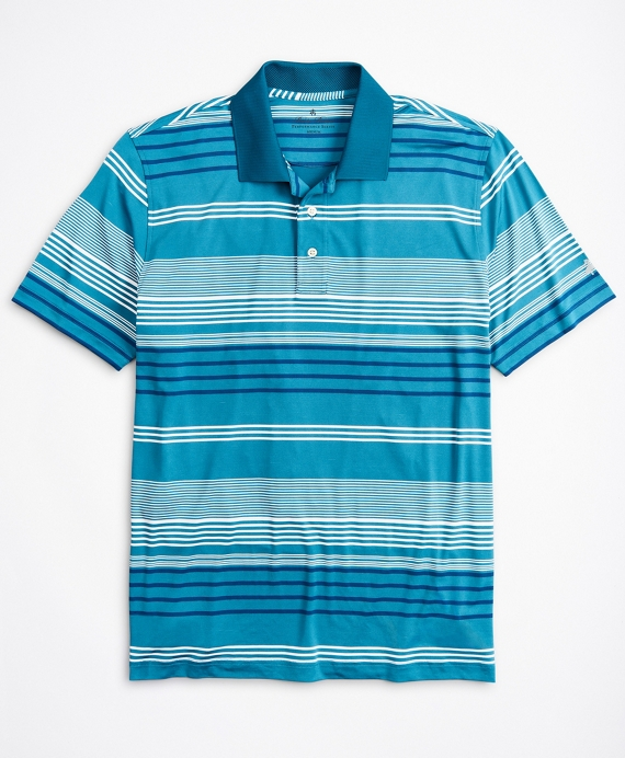 Performance Series Triple-Stripe Polo Shirt Blue
