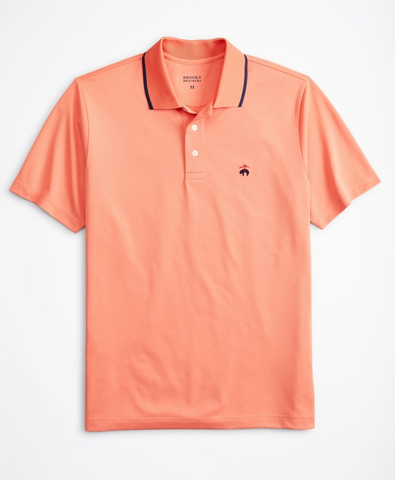 Performance Series Tipped Collar Polo Shirt Coral