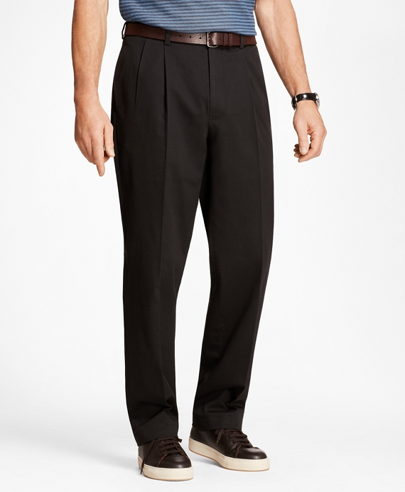 Elliot Fit Pleat-Front Advantage Chino® Pants Black