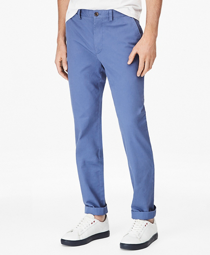 Clark-Fit Washed Stretch-Cotton Chino Pants