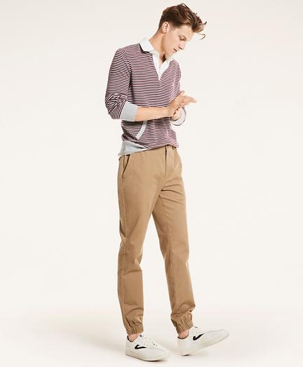 Stretch Cotton Twill Jogger Pants