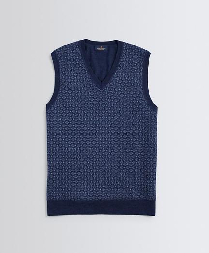 Geo-Patterned Merino Wool Sweater Vest