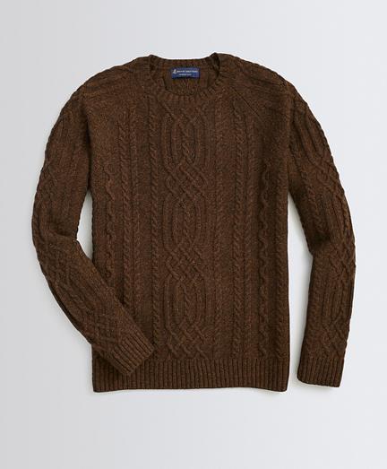 Wool-Blend Fisherman Sweater
