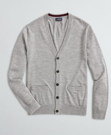 Washable Merino Wool V-Neck Cardigan