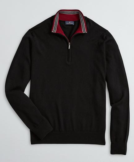 Washable Merino Wool Half-Zip Sweater