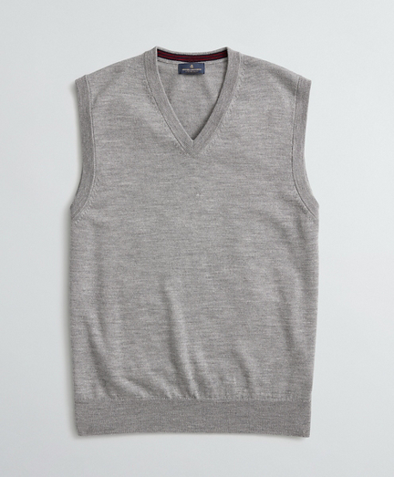 Washable Merino Wool V-Neck Vest