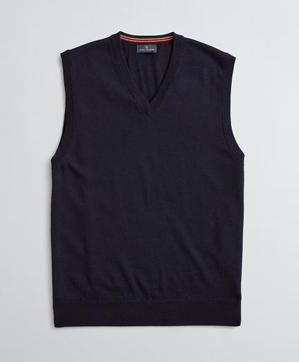 Washable Merino Wool V-Neck Vest
