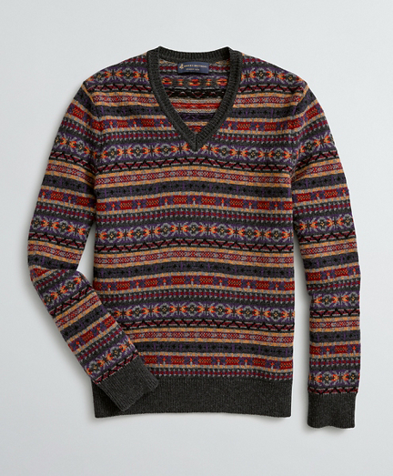 Fair Isle Merino Wool-Blend Sweater
