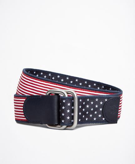 Stripe and Dot Reversible Stretch Belt