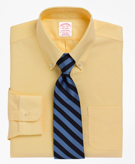 BrooksCool® Traditional Relaxed-Fit Dress Shirt, Non-Iron Button-Down Collar