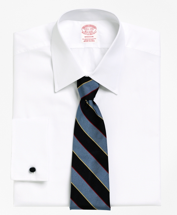 Madison Classic-Fit Dress Shirt, Tennis Collar French Cuff White