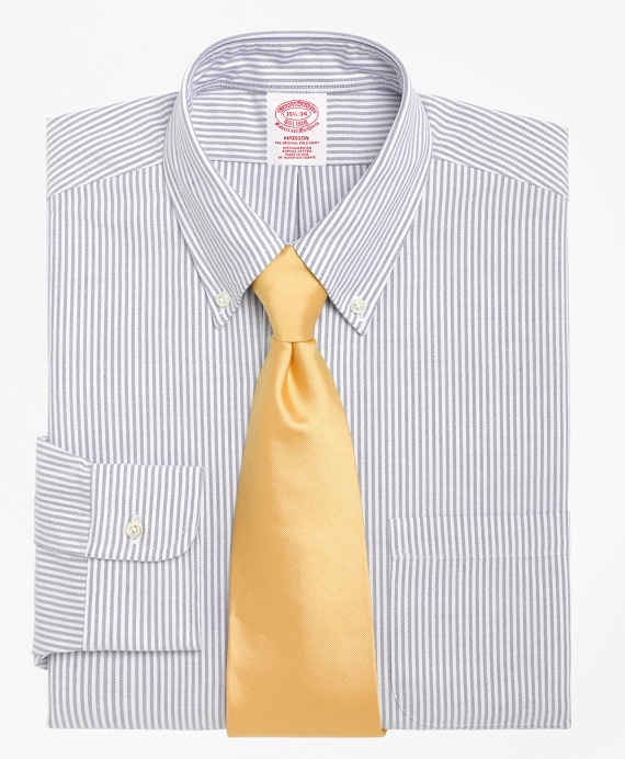 Madison Classic-Fit Dress Shirt, Stripe Blue