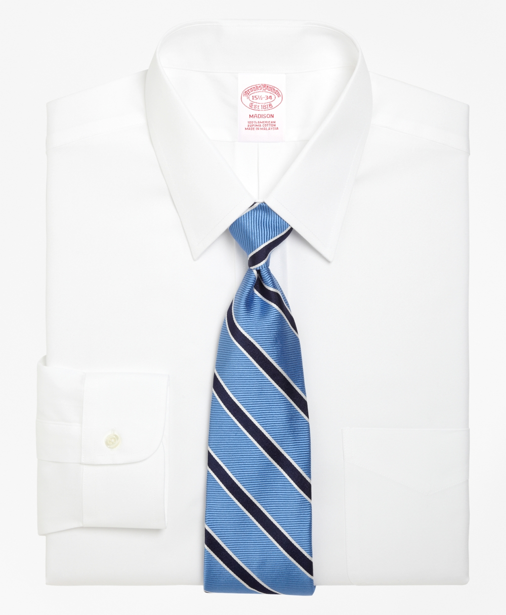 Brooksbrothers Madison Relaxed-Fit Dress Shirt, Forward Point Collar
