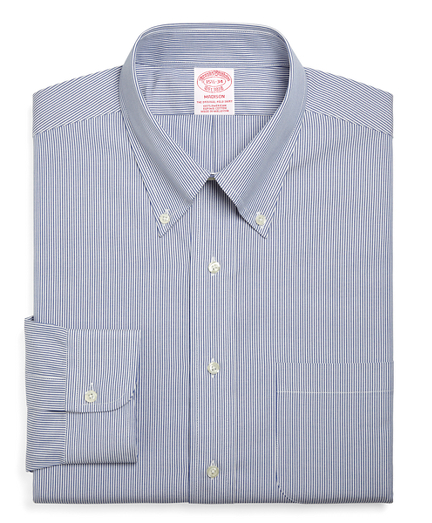 Madison Relaxed-Fit Dress Shirt, Stripe