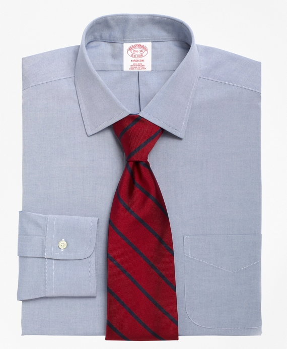 Madison Classic-Fit Dress Shirt, Non-Iron Spread Collar Blue