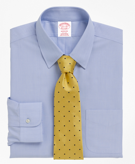 Madison Relaxed-Fit Dress Shirt, Non-Iron Tab Collar