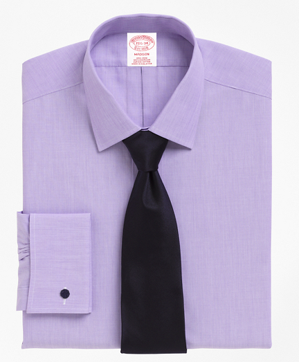 Madison Relaxed-Fit Dress Shirt, Non-Iron Spread Collar French Cuff