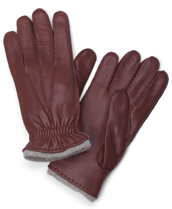 Deerskin Cashmere Lined Gloves Tan