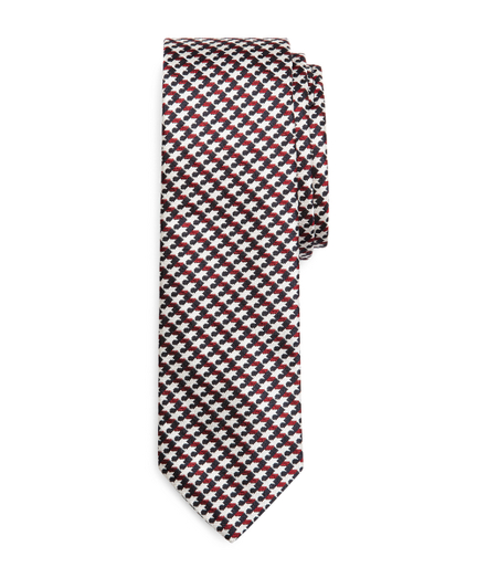 RED, WHITE AND BLUE WEAVE TIE