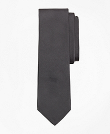 Grey Cotton and Silk Tie