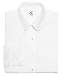 Black Fleece Oxford Button-Down Shirt with Stripe Detail