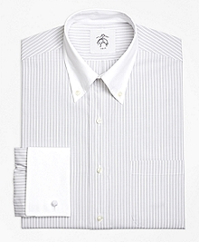 Wide Stripe French Cuff Shirt