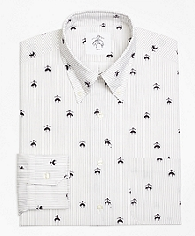 Fleece Embroidered Button-Down Shirt