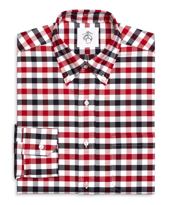 11d85853ccf Men s Black Fleece Gingham Oxford Button-Down Shirt